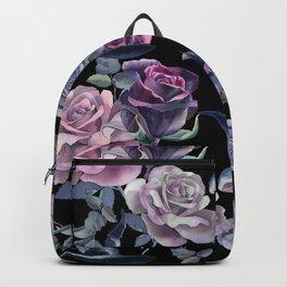 Dark flowers Backpack