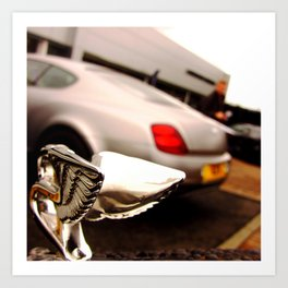 Bentley badge with a continental  Art Print