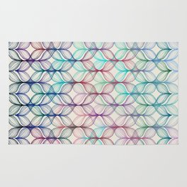 Mermaid's Braids - a colored pencil pattern Rug