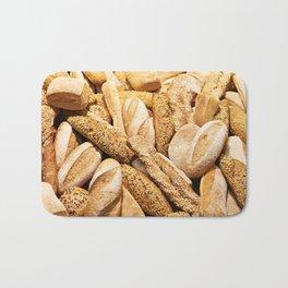 Bread baking rolls and croissants Bath Mat