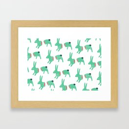 bunniz (CHERRY BLOSSOM GREEN) Framed Art Print