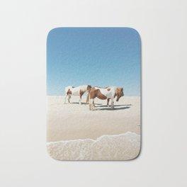 Summer Shore Horses Bath Mat