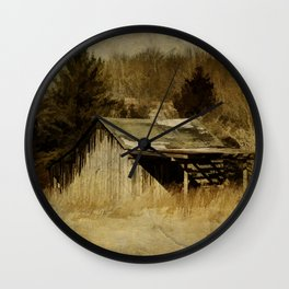 Shadows on the Barn Wall Clock