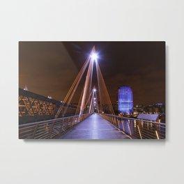 Golden Jubilee Bridges, London Metal Print