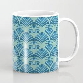 Art Deco classic pattern blue Coffee Mug