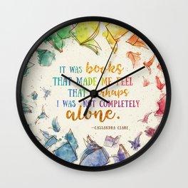 It was books Wall Clock