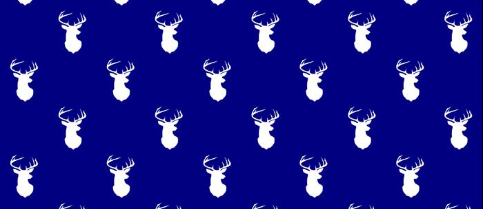 blue stag pattern Coffee Mug