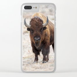 In The Presence Of Bison #society6 #decor #bison by Lena Owens @OLena Art Clear iPhone Case