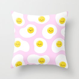 Cute Fried Eggs Pattern Throw Pillow