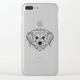 Doodle- black and white Clear iPhone Case
