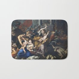 Milan - paint of Massacre of the Innocents from San Eustorgio church Bath Mat