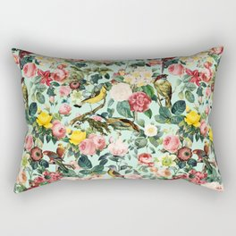Floral and Birds III Rectangular Pillow