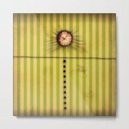 Mad Hatter's Clock Metal Print