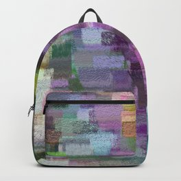 abstract colorful pastel drawing purple blue tones Backpack