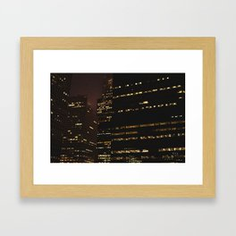 Foggy Night VI Framed Art Print