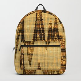Wavy golden abstract Backpack