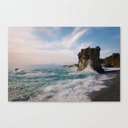 Marina di Maratea - Splashes Canvas Print
