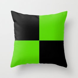Big mosaic green black Throw Pillow