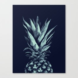 Navy Blue Pineapple Dream #1 #tropical #fruit #decor #art #society6 Canvas Print