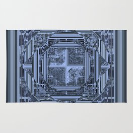 looking for something (black and gray) Rug
