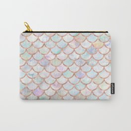 Pastel Memaid Scales Pattern Carry-All Pouch