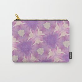 Geometric Floral Design - Purple Carry-All Pouch