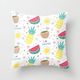 Summer fruits Throw Pillow