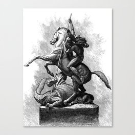 St. George (Saint George) Slaying Dragon Canvas Print