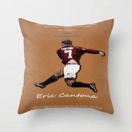 Eric Cantona 50 Throw Pillow