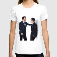 sterek T-shirts featuring Sterek White Collar AU by Finduilas