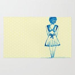 blue girl Rug