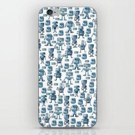 Robots pattern iPhone Skin