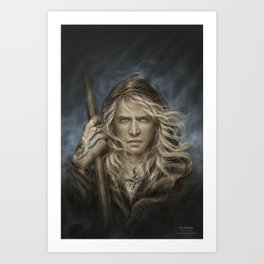 The Undying King Art Print