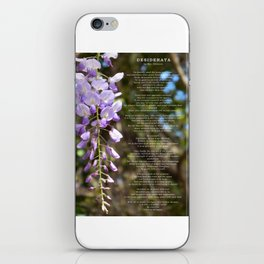 Desiderata 3 iPhone Skin
