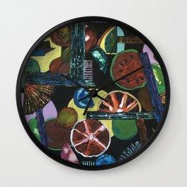Abstract Fruits Wall Clock