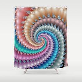 Fractal Mandelbrot Spyral Shower Curtain