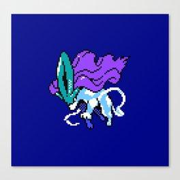 Suicune pixel art Canvas Print