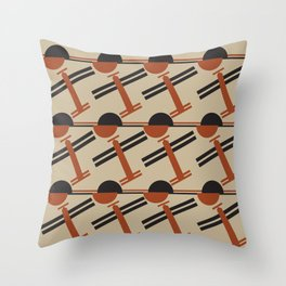 soviet pattern - constructivism Throw Pillow