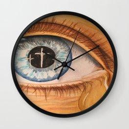 Reflection in Eye Wall Clock