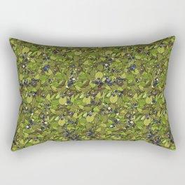 Blueberry Bushes Rectangular Pillow