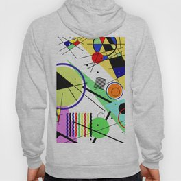 Retro Crazy - Abstract, random, crazy, geometric, colourful artwork Hoody