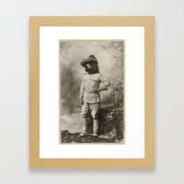Teddy Bear Roosevelt Framed Art Print