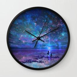 Ocean, Stars, Sky, and You Wall Clock
