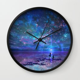 Ocean, Stars, Sky, and You Wall Clock