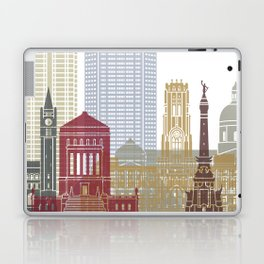 Indianapolis skyline poster Laptop & iPad Skin