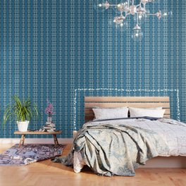 Mesmerizing Wild Floral Geometric Wallpaper