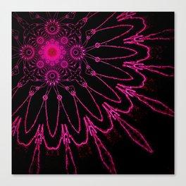 The Modern Flower Electric Fucshia Canvas Print