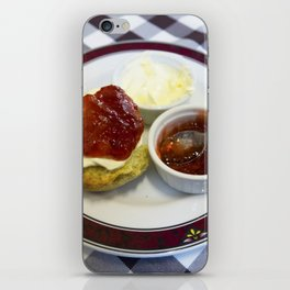 Cream tea for one iPhone Skin