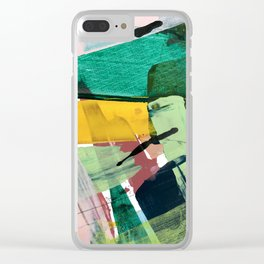 Hopeful[3] - a bright mixed media abstract piece Clear iPhone Case