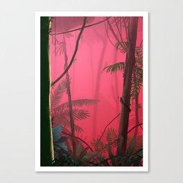 Jungle in Pink Fog Canvas Print
